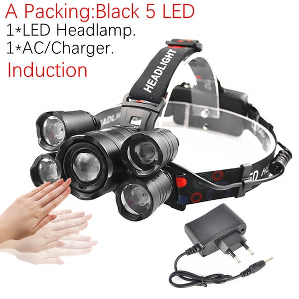 A Pack - Black 5 LED No Battery