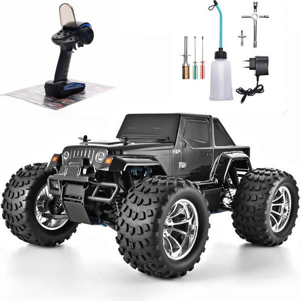 Hsp Rc Truck 1 10 Scale Nitro Gas Power Hobby Car Two Speed Off Road Monster Truck 94108 4wd High Speed Hobby Remote Control Car T200720 Rc Car Helicopter Cheap Radio Control Cars