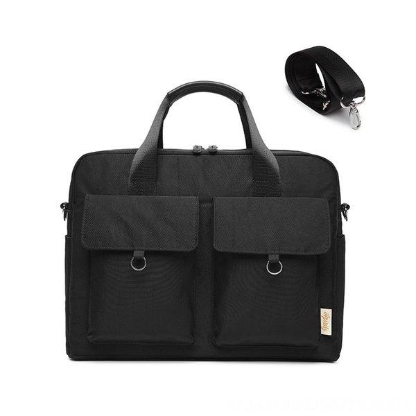 Bolsa de doble bolsillo de un solo hombro del ordenador