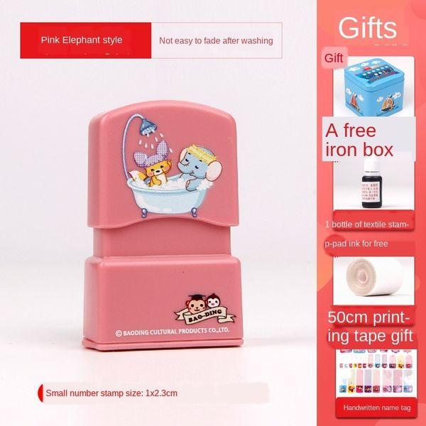 rosa Elefant (1x 2.3cm) Geschenkbeutel A