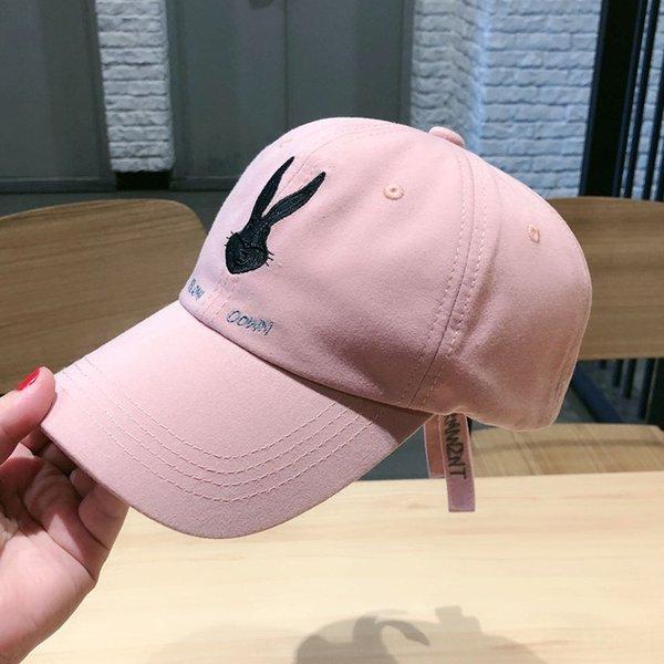 Bunny baseball cap cotton pink