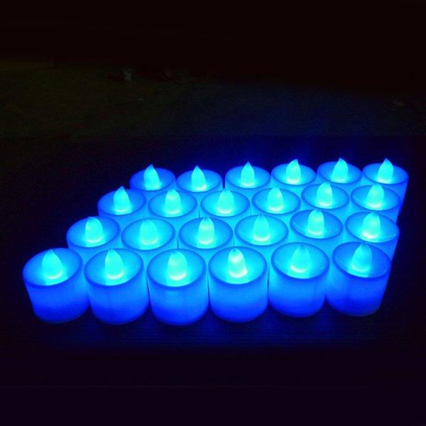candela bianca luce blu