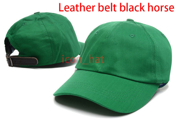Green with Leather belt black horse