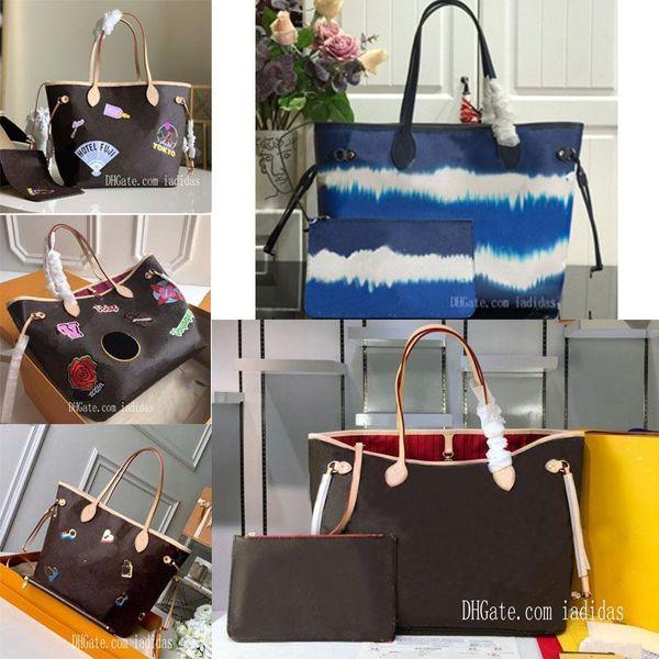 best selling 21 colors never shopping bag old flower women MM large cavans tote messenger bags full handbagneverfullwomen with pouch best pvZU#