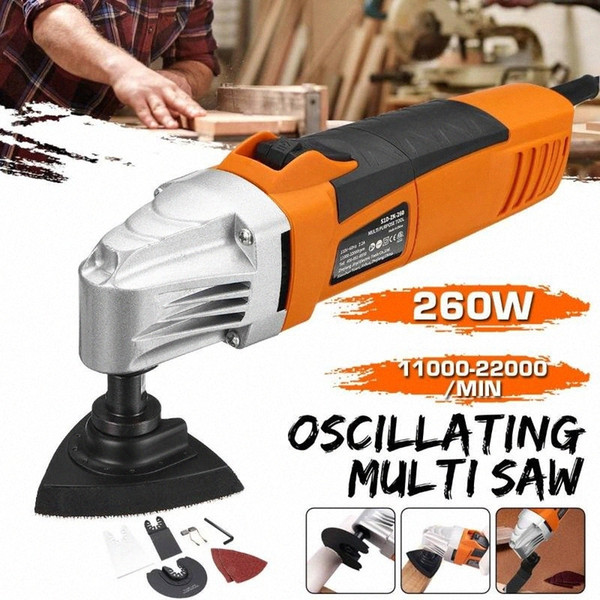 top popular Renovator Multi Tools Electric Multifunction Oscillating Tool Kit Woodworking Cutter Power Tool Electric Trimmer Saw Sanding 5nqa# 2021