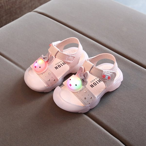 628 good children's music sandals pink