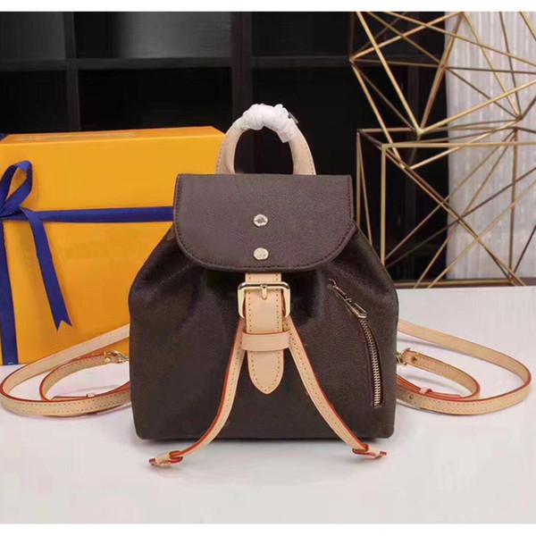 best selling Wholesale Genuine leather backpack for wome handbag purse women fashion back pack shoulder bag handbag presbyopic mini package