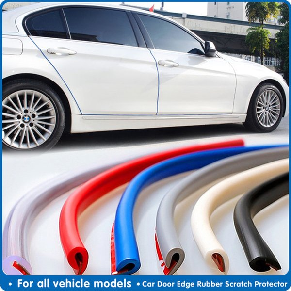 Wholesale Automobiles & Motorcycles 5m Protection Rubber Strip Door Protector Moldings Side Anti-rub Protection Car Door From Scratches Car-styling