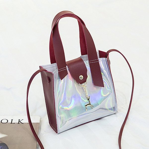 lazer kırmızı çanta