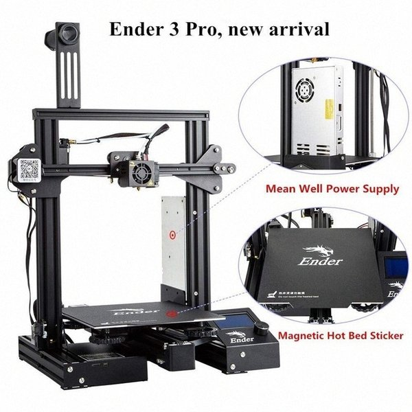 best selling 3D Ender-3 Pro 3D Drucker Verbesserte Magnetische Bauen Platte Lebenslauf Stromausfall Druck DIY KIT Mean Well Netzteil YD51#