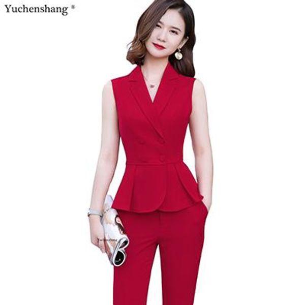Tuta di pantaloni rossi