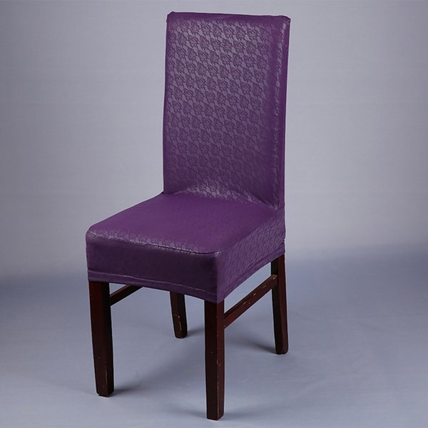 patrón de encaje de color púrpura cubierta de la silla de la PU