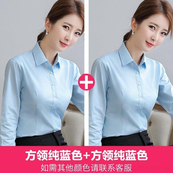 Square Collar Pure Blue X 2