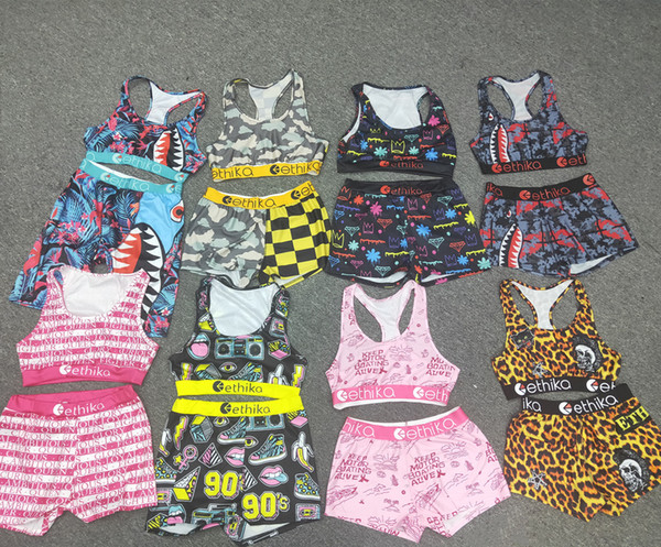 top popular women 2 piece ethika set ethika women Ethika boxers Bikini Vest Tank Bras Swimsuit Playsuit Shark Swim Suits bikinis 2020