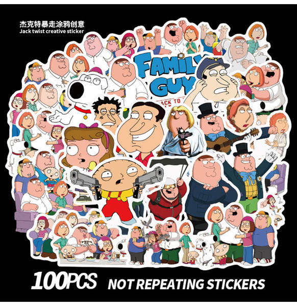 top popular 100PCS Mixed Car Sticker Family people Graffiti For Laptop Skateboard Pad Bicycle Motorcycle PS4 Phone Luggage Decal Pvc guitar Fridge Stickers 2021