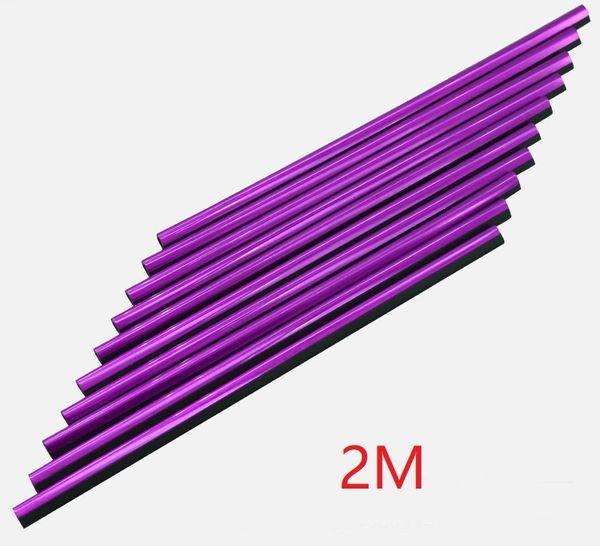 púrpura, 2 m de largo