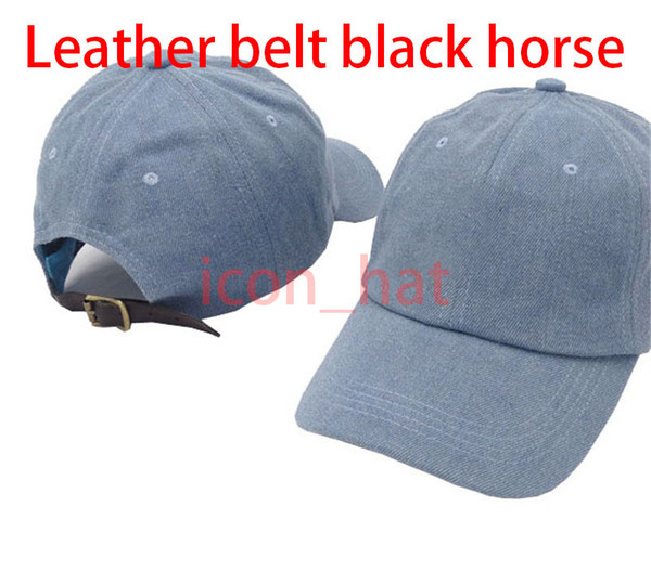 Denim Blue with Leather belt black horse