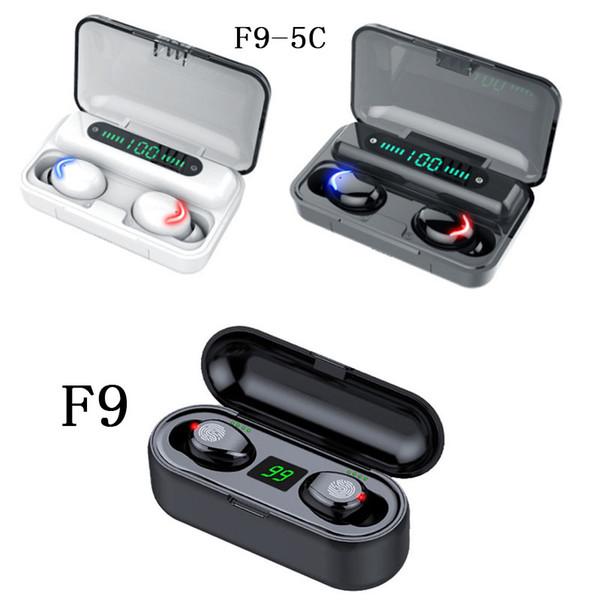 best selling New brand Wireless Earphone Bluetooth V5.0 F9 TWS Stereo Wireless Bluetooth Headphone LED Display With 2000mAh 1200mah Power Bank Headset