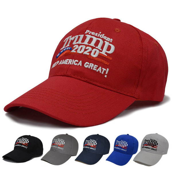 top popular Trump 2020 hat Baseball Cap Keep America Great Hat Donald Trump Cap Republican President Trump party Hats 10 styles LJJK1109 2021
