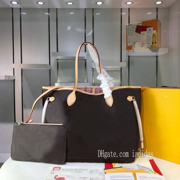 best selling 21 colors never shopping bag old flower women MM large cavans tote messenger bags full handbagneverfullwomen with pouch good 0yPW#