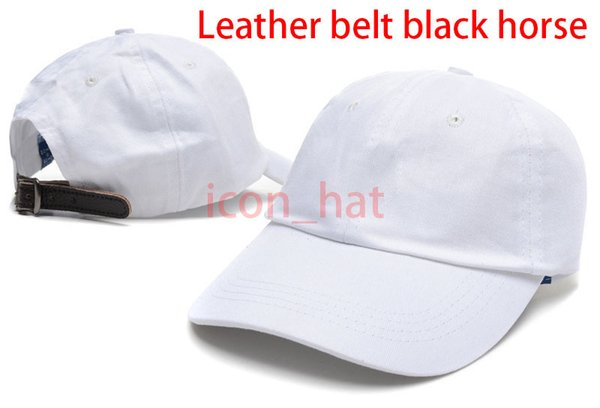 White with Leather belt black horse