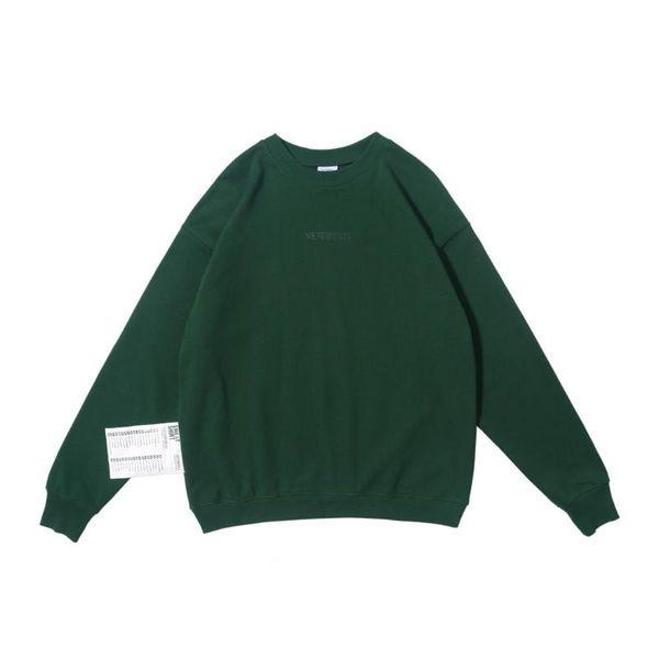 Sweat-shirt vert
