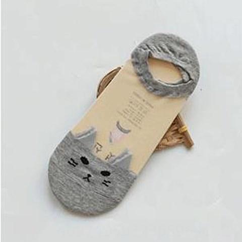 glass Silk Pure gray cat head -8 pairs