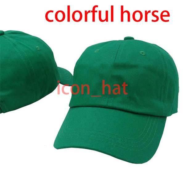 Green with Colorful horse