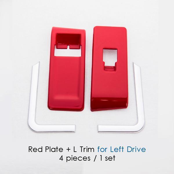 Red plate L Trim