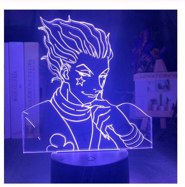 top popular Kids Night Light Gift Led Touch Sensor Colorful Bedroom Nightlight Anime Hunter X Hunter Decor Light Cool 3d Lamp Hisoka Gadgets 2021