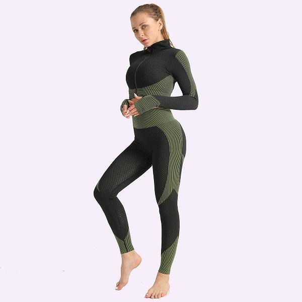 Army Green-2pcs coat-leggings