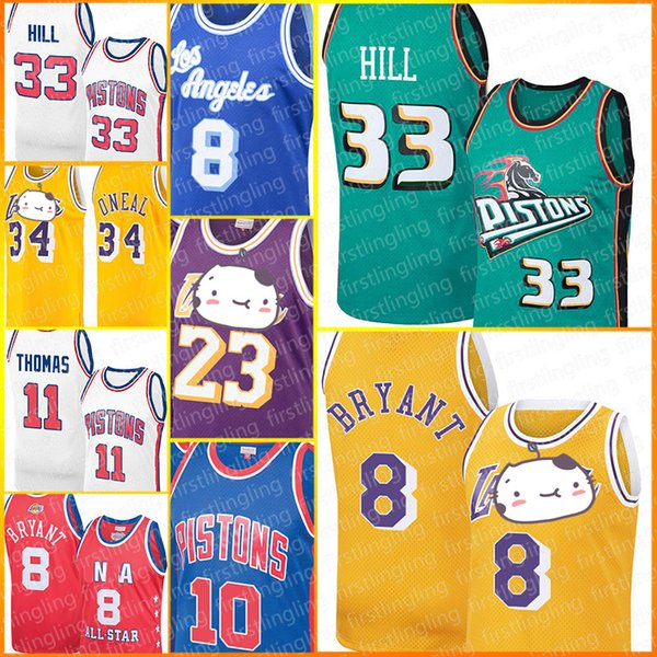 top popular Detroit Grant Pistons Hill Jerseys 8 Bryant Los LeBron Angeles 23 James Jersey Derrick Isiah Rose Thomas Dennis Earvin Rodman Shaquille John 2020