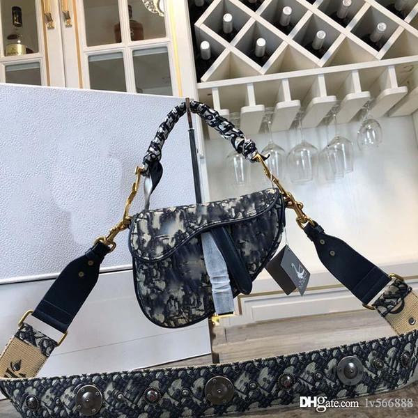 top popular The latest large and medium fashion style luxury designer handbags luxury popular shoulder bag leather saddle bag 0446-14 2020