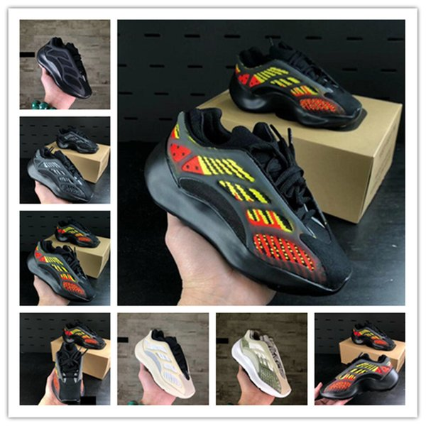 best selling 5 colors 700 V3 Static Kids Shoes For Boys&Grils Running Shoe 2020 Vanta Geode Outdoor Children High quality Sports Sneakers 26-35 no box