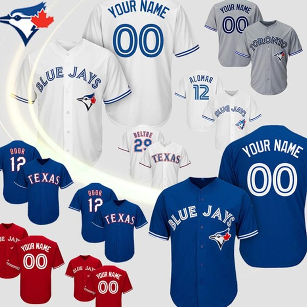 best selling Custom Toronto Vladimir Guerrero Jr. Blue Jays Jersey Roberto Alomar Carter Randal Grichuk Smoak Royal Stroman Baseball jerseys top