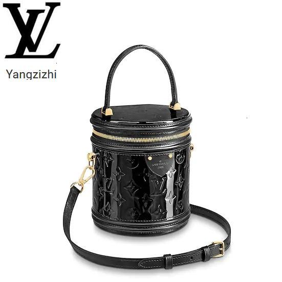 top popular Yangzizhi New Patent Leather Embossed Cannes Handbag Cylinder Bag M53997 Handbags Bags Top Handles Shoulder Bags Totes Evening Cross Body 2020