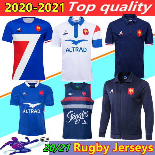 best selling 20 21 France Super Rugby Jerseys vest with jacket 2020 2021 France Shirts Rugby Maillot de Foot French BOLN Rugby shirt jackets Thailand