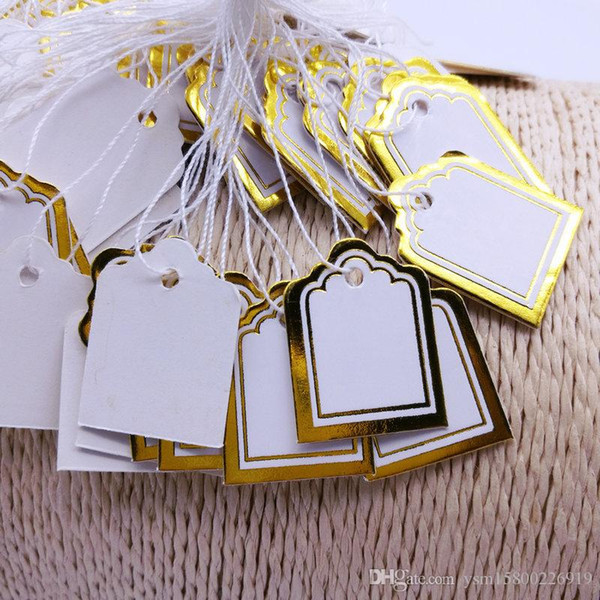 best selling 500 PCS price tag tie string display label tag 24x18mm chic Jewelry price tag