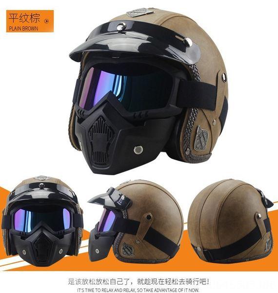 marrone normale maschera casco +