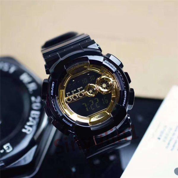 2 black gold watch