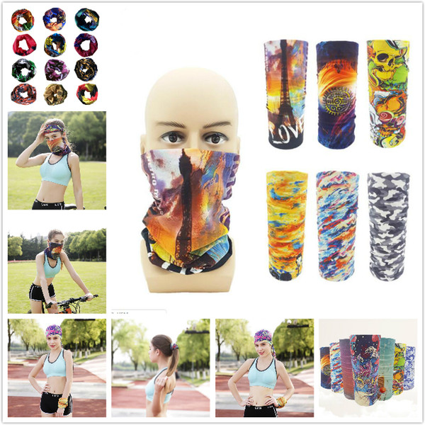 best selling Sport Bandanas Scarves Multifunctional Outdoor Cycling Masks Scarf Magic turban Sunscreen Hair band Riding Cap Multi Styles