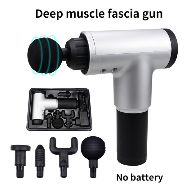 top popular Stock High Quality Muscle Massage Gun Deep Massage Exercising Body Relaxation Fascial Gun Pain Relief Slimming Shaping 2021