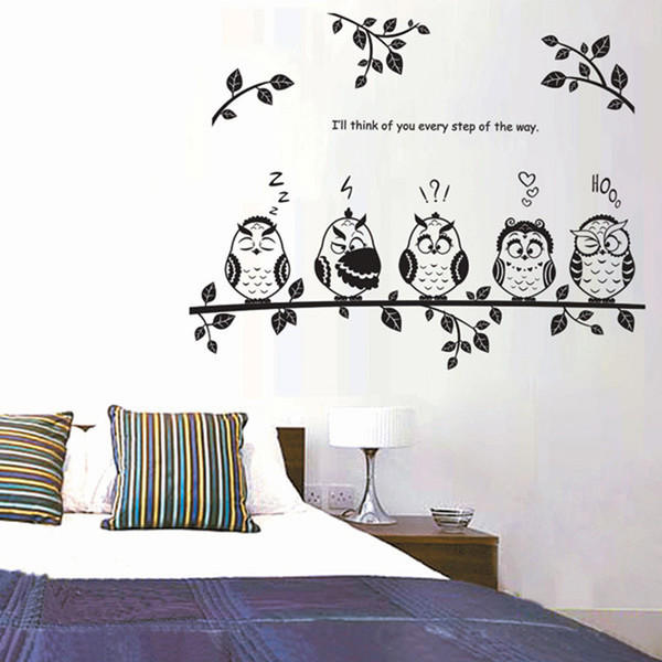 Cartoon Owls on tree wall stickers for Kids room Vinyl Home Decor Mural removable Decal Branchs animal stickers on the wall Brand NameHonC SpecificationSingle-piece Package Censor CodeNone ThemeAnimal Stylecartoon ClassificationFor Wall MaterialPVC Model NumberW00 ScenariosWALL PatternCartoon Owls on tree Product receive size50cm * 70cm Paste the finished sizeabout