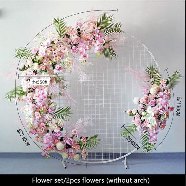 pink 2pcs flowers