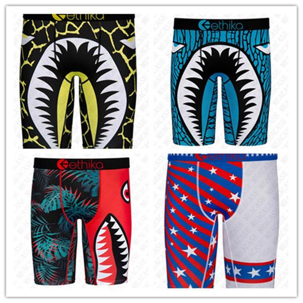 best selling Mens Underwears Men Brand Swimwear Summer Beach Shorts Quick Dry Shark Printing Sand Sports Shorts Boxers Fashion Underwear Beachwear D72707