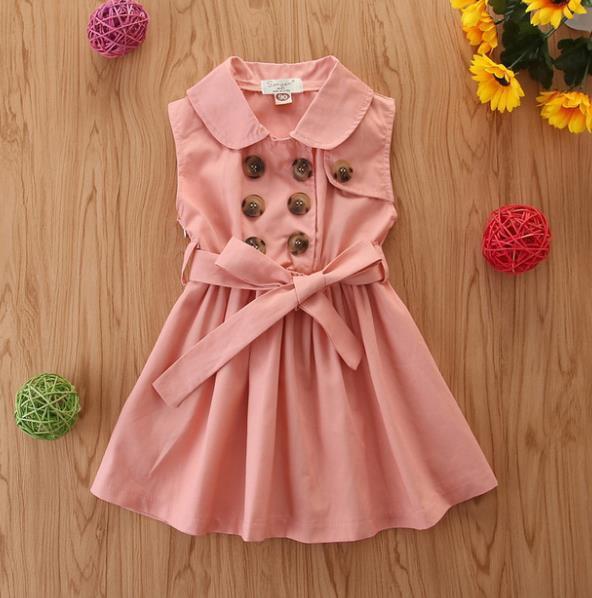 # 1 Двойной Брестед Дети платье