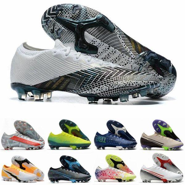 best selling Mens Low Mercurial CR7 Dream Speed XIII Elite FG 13 SAFARI Ronaldo Neymar NJR Pink 360 Boys Soccer Cleats Football Boots Shoes