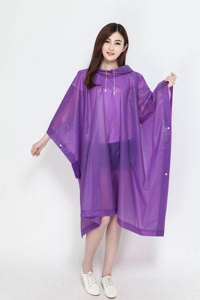 Purple Pullover Poncho-Length 130cm x Wi