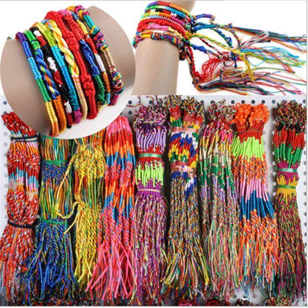 best selling Bracelet Girls Luxury Colorful Purple Infinity Bracelet Handmade Jewelry Cheap Braid Cord Strand Braided Friendship Bracelets .