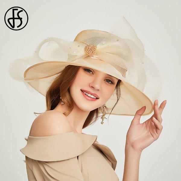 Beige White Sun Hat
